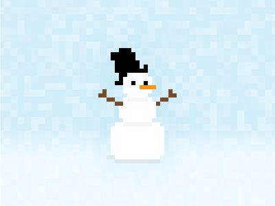 Pixelman 2013 merry card christmas pixel pixelified pixelated pic pixelart snowman