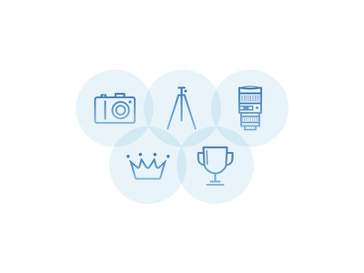 ViewBug icons crown lens trophy contest photography blue minimalism simple glyph icon