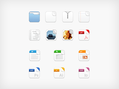 Filetypes icon ios iphone app webapp application lundegaard webshare filetype file extension folder zip pdf adobe html