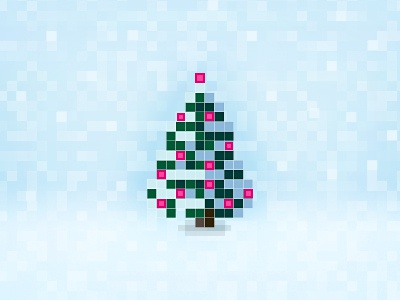 Merry piXmas! pixelart pic pixelated pixelified pixel christmas card merry 2012
