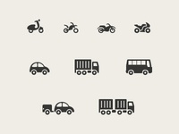 Driving License Icons