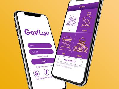 GovLuv Redesign app branding logo product design government uidesign uxdesign ui