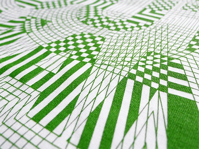 Far Out Tshirt Detail tshirt typography cad pschedelic pattern origin68 green eco tee