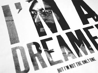 Dreamer dreamer johnlennon tshirt origin68 helveticaneue