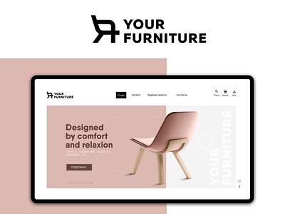 YOUR FURNITURE logo furniture illustrator uiux designer uiuxdesigner uiux uidesign ui  ux ui website design web design website web