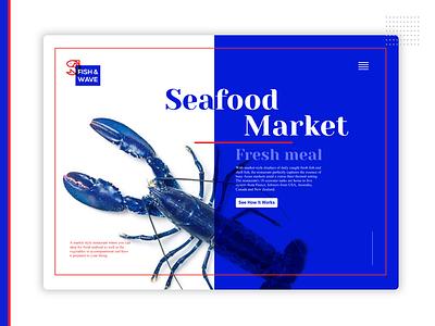 SeaFood Market ui design web ui uidesign illustration vector design mobile furniture logo design