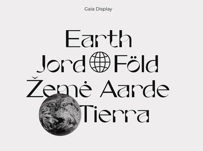 Gaia Display blackandwhite logotype feminine jord tierra graphic logo earth typedesign type design typeface type display gaiadisplay gaia typo typography