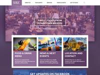 Sonic — Pub Homepage web website purple web design