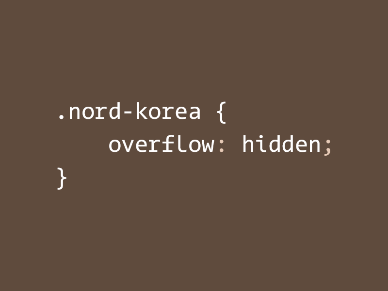 .nord-korea css html pun flat