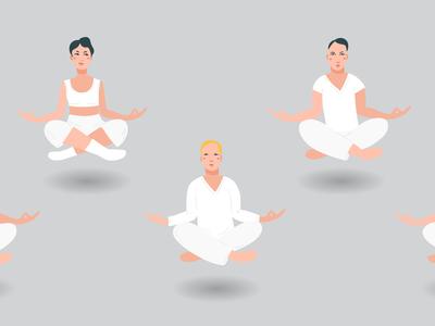 Group levitation in meditation