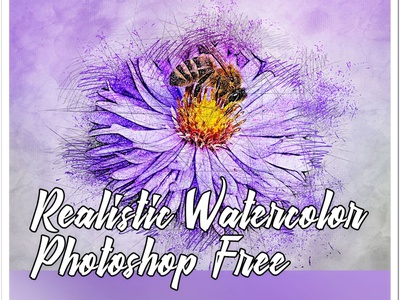Realistic Watercolor Photoshop Action Free Download tutorial branding photo portrait action art pen pencil sketch photoshop watercolor abstract logo