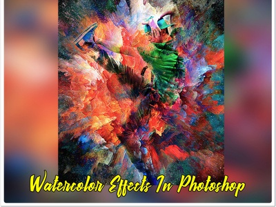 Brush Photoshop Watercolor branding watercolor tutorial splatter photoshop painting oil paint media mixed effects creative free photoshop action sketch photo illustration typography effect design