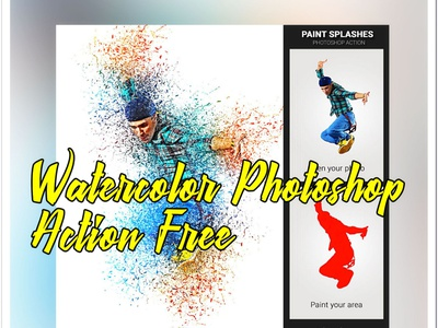 Watercolor For Photoshop oil paint media mixed effects creative pencil branding photoshop photoshop action artistic art effect illustration abstract design