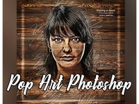 How To Pop Art Photoshop painting oil paint media mixed effects design creative sketch professional photo colorful brushes artistic art effect photoshop action photoshop