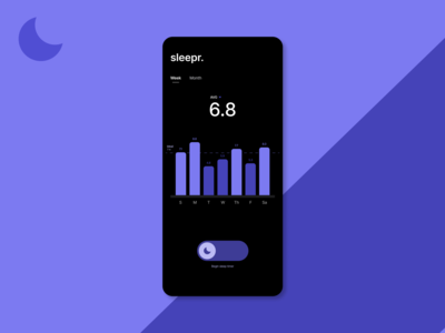 Sleepr: A sleep visualizer [Daily UI 018]