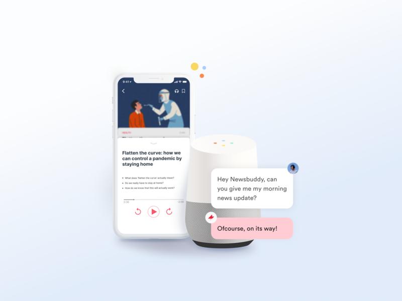 Ambient News Experience news app conversational conversational ui newsfeed voice assistant ui design design ui