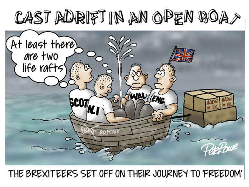 Cartton about Brexit illustration humour cartoons