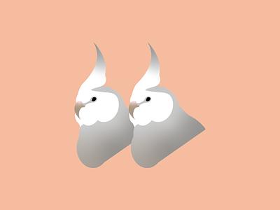 Cockatiels: Pesto and Basil vector pets birbs parrots birds cockatiel illustration vector art