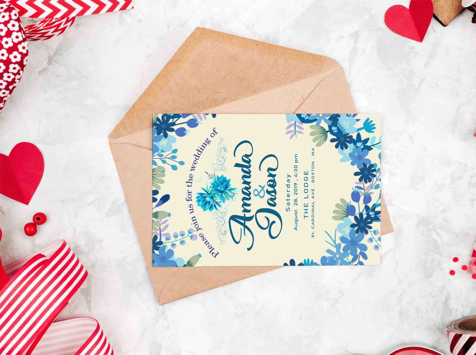 Free Invitation Greeting Card Mockup By Maimuna A Halim On