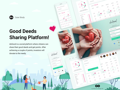 UX Case Study- doGood, a good-deed sharing website ux ui adobe xd