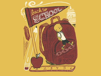 Back To School editorial illustration
