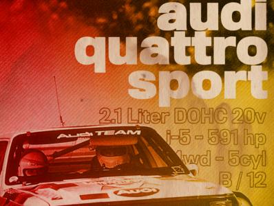 Group B - Audi Quattro Sport