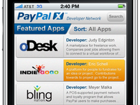 PayPal X Featured Apps Page