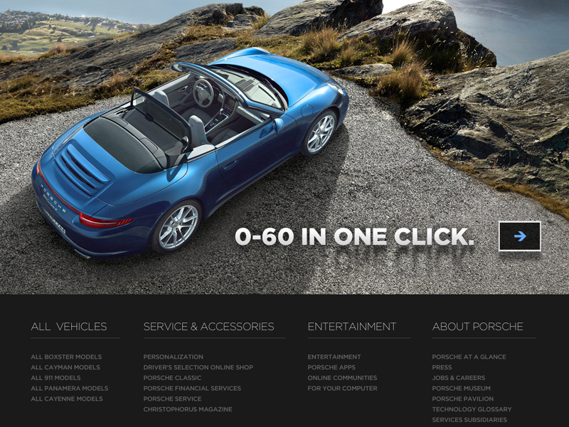 Porsche Footer By Matt Olpinski Dribbble