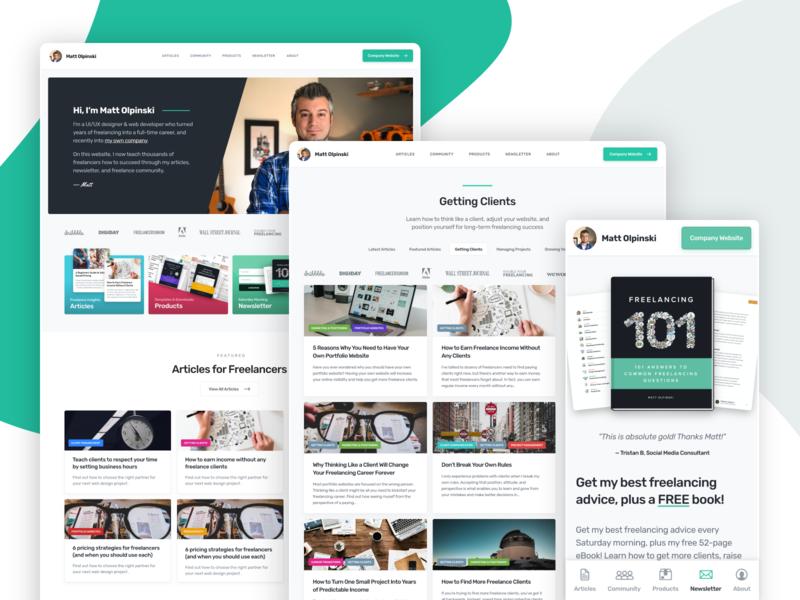 Personal Website Redesign mobile interactive branding marketing web website interface ux ui design