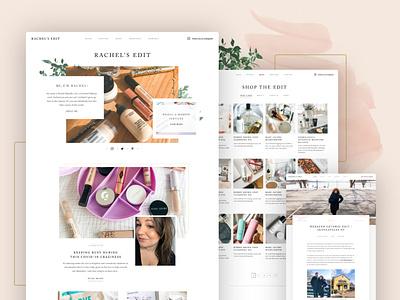 Rachel's Edit Website makeup blog beauty marketing web ux ui mobile website design
