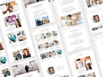 Rachel's Edit Website Showcase branding feminine blog makeup beauty marketing app web website design
