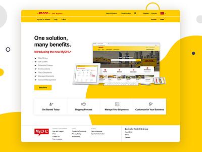 DHL Microsite marketing interactive web website interface ux ui design