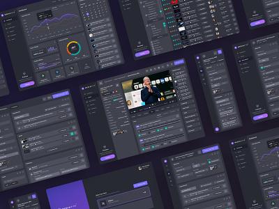 MediaHive Showcase dashboard interactive media dark web app product video mobile website interface ux ui design