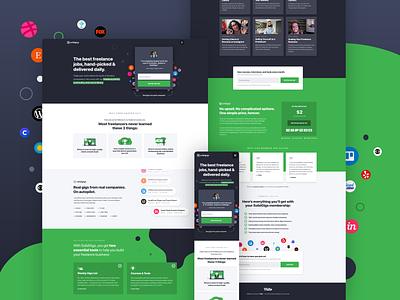 SolidGigs Website Design landing page marketing interactive mobile web website interface ux ui design
