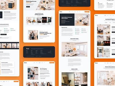 Knaub Home Solutions Marketing Website Showcase mobile typography construction marketing interface ux ui design web websites website remodeling renovation home