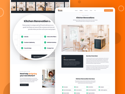 Knaub Home Solutions Dynamic Service Pages remodeling renovation construction home wordpress marketing interactive mobile web website interface ux ui design