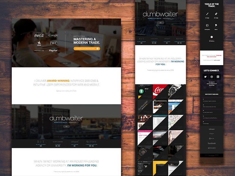 Portfolio Site Update web interface ui ux website design photoshop mobile app