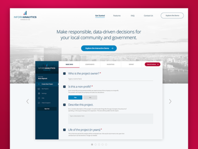 InformAnalytics Home Page