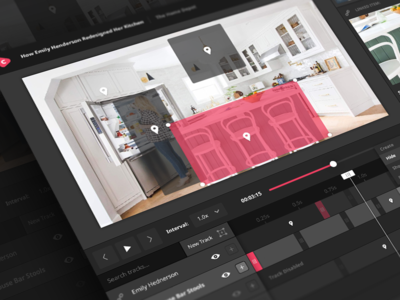 Cinematique Video Tracking Interface layers timeline application software web design motion tracking video ux ui
