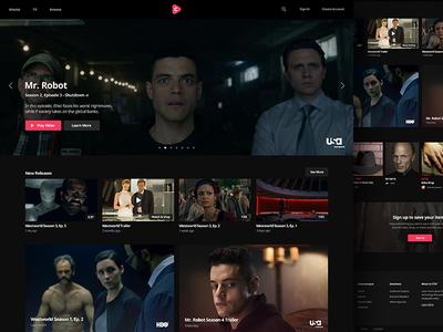 Cinematique Home Page (Dark Version) web branding home page video landing marketing design platform ux ui