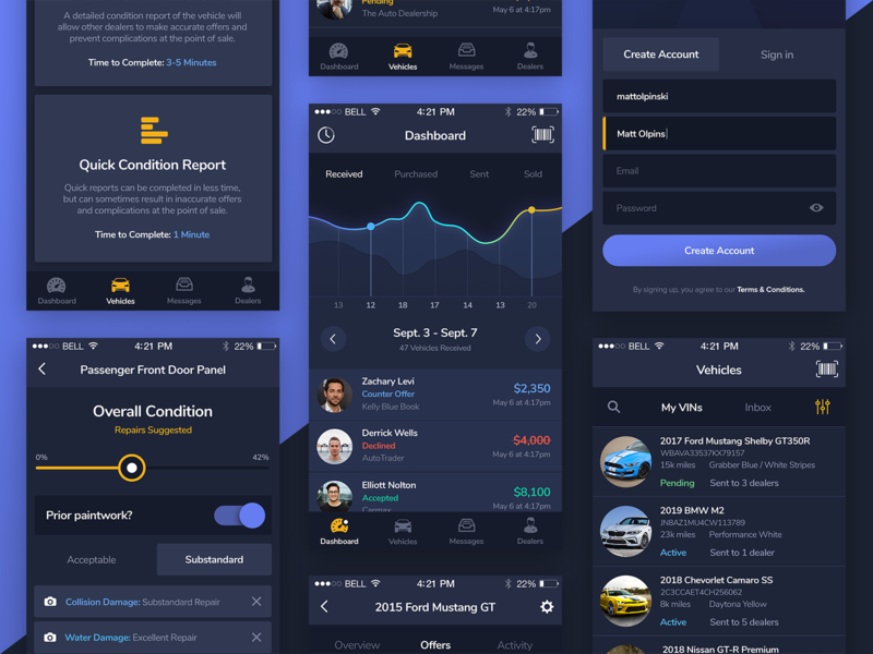 VinSwitch App Showcase interactive mobile app interface ux ui design