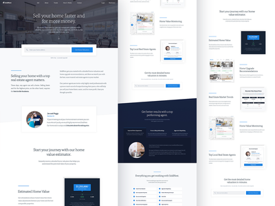 SoldNest Home Page Showcase real estate landing page home page interface typography branding web website ux ui design