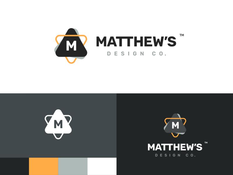 Matthew's Design Co. [Brand Launch] typography illustrator vector branding design logo branding design