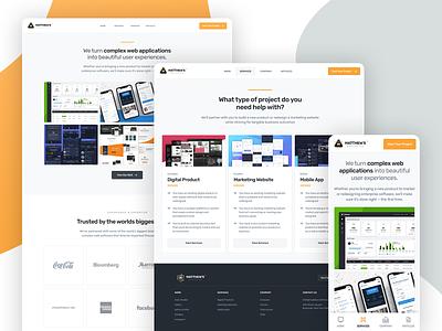 Matthew's Design Co. [Website Launch] webdesign homepage marketing portfolio branding web website interface ux ui design