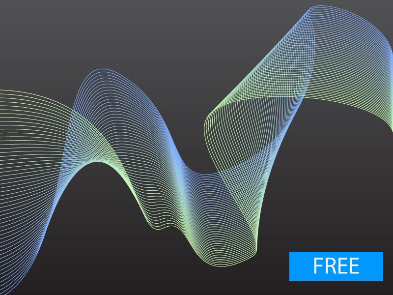 Microwaves in Illustrator Blendtool freebee free cool tech tool art lines illustrator