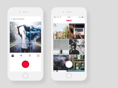 Giflit redesign videos photo camera library mobile ui ux redesign ios app gif giflit