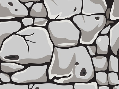 Seamless pattern with white stones