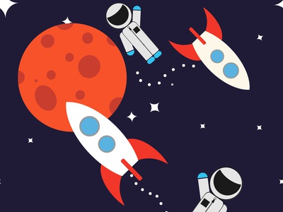 Space illustration of children's clothing pattern