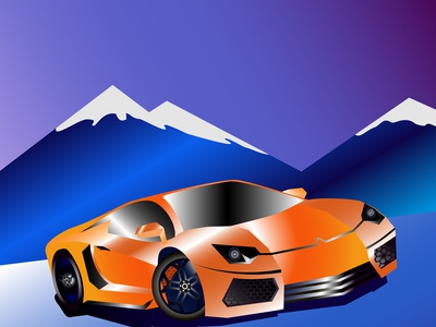 Illustration of a racing car.Vector