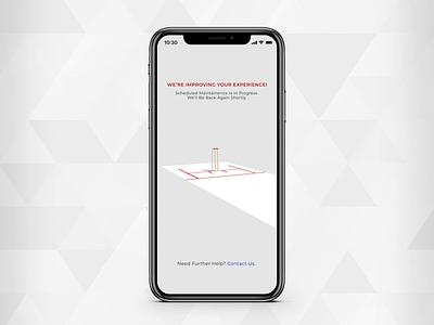 Under Maintenance roller pitch cricket product design design animation